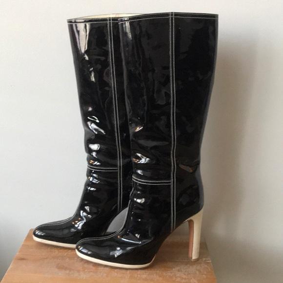 f83901abc5fa MIU MIU Tall Patent Boots! M 5c780906a5d7c6647fd1fa1d